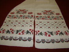 Vintage Ukrainian linen  embroidered rushnyk Poltava region # 101
