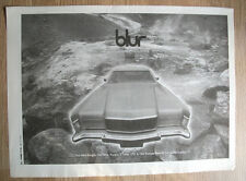 blur - SONG 2 - poster size music advert - original - 1997 - 16 x 12