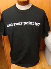 NEW MENS GILDAN BLACK AND YOUR POINT IS TEE SHIRT SIZE XL