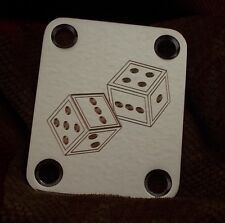 Dice Engraved Chrome Finish Neck Plate