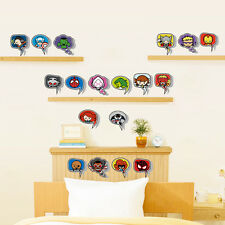 The Avengers Spiderman Super Heros DIY 18 Cross Pang Wall Stickers Decor Decal