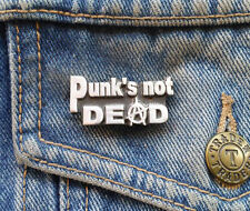 PUNK'S NOT DEAD Pewter Pin Badge