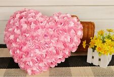 Pink 99 rose heart 40 * 35CM Decorative Bed Pillow Valentine's day gift