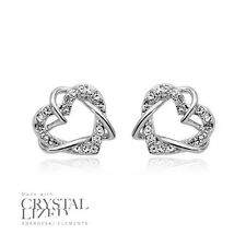 TANGLED IN LOVE Swarovski Elements Crystal 18-KRGP White Gold Plated Earrings