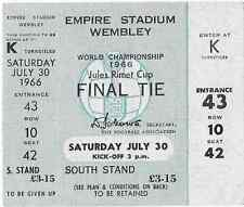 MEGA RARE unused 1966 World Cup final ticket: England v West Germany @ Wembley