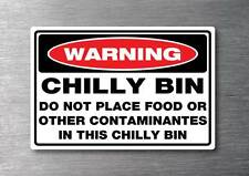 Chilly bin sticker no food water & fade proof 7year vinyl