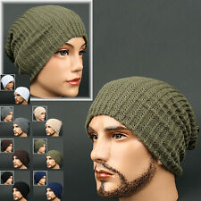 Beanie WAFFLE OLIVE STRIPE Skull Knit Head Wrap Rasta Fashion Hat