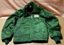 Mens Vintage DEKALB Seed Corn Jacket Lined Size SMALL Pristine SHERPA