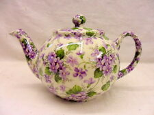 Ditsy Violet chintz design 2 cup teapot by Heron Cross Pottery