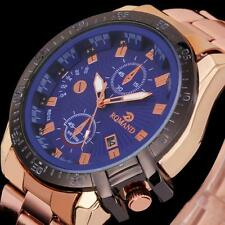 Luxury Mens Dial Stainless Steel Watch Military Date Analog Wrist Watch Fashion