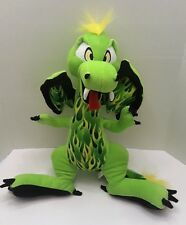 """FLYING GREEN SCORCH DRAGON 19"""" Plush Stuffed Animal By The Toy Factory"""
