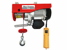 880 LB OVERHEAD ELECTRIC HOIST CRANE LIFT GARAGE WINCH W/REMOTE 110V-FIVE OCEANS