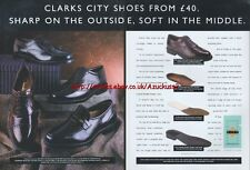 Clarks City Shoes 1996 Magazine 2 Page Advert #3996
