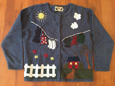 Vintage Episcia Women's UGLY CHRISTMAS SWEATER Multi-Coloured Country Design