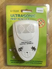 Expel Rat Mosquito Cockroach Pest, Ultrasonic Insect Repellent, Gift UK EU Plug