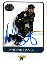 1980 USA OLYMPIC GOLD TEAM Neal Broten SIGNED HOCKEY CARD AUTOGRAPHED Fleer