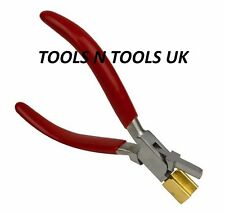 """BOW-CLOSING PLIERS WITH BRASS JAWS 5"""" JEWELRY MAKING FORMING SHAPEING WIRE WORK"""