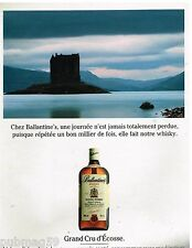 Publicité Advertising 1993 Scotch Whisky Ballantine's