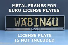 Metal Frame Steel Holder For European Euro License Plate Stainless New Jeep Logo