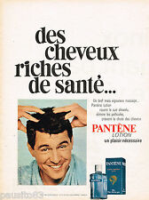 PUBLICITE ADVERTISING 055  1968  PANTENE   lotion cuir chevelu