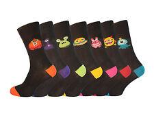 Men's 7 Pair Novelty Monster Socks Funny Character Jokes UK 6-11 Free Delivery