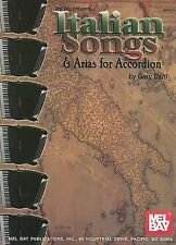 Italian Songs & Arias for Accordion, New, Dahl, Gary Book