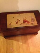 Classic Pooh WOODEN TREASURE,HOPE CHEST,CHILDS TOY BOX / TRUNK
