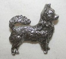 Chihuahua Longhair Dog Fine PEWTER PIN Jewelry Art USA Made