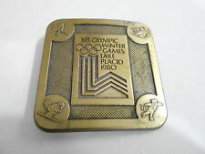 1970s VINTAGE BELT BUCKLE #05- 004 - XIII OLYMPIC WINTER GAMES LAKE PLACID 1980