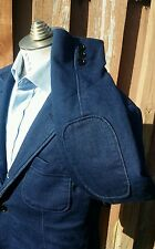 FRANK & OAK Indigo Blue Knit Blazer Sport Coat Jacket Mens 42R 44R L Laurier fit