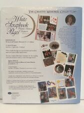 Creative Memories 8.5x11 White Scrapbook Refill 15 Sheets 30 Pages RCM-11S