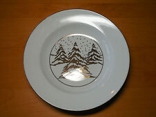 Meiwa Table Art Gold Pine Trees Set of 8 Rimmed Bowls 8 3/8 in