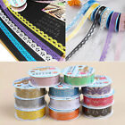 10 PCS Decorative Lace Roll Washi Sticky Paper Masking Adhesive Tape Crafts DIY