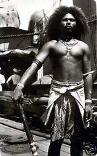 """Santa Cruz Native Warrior Solomon Islands HMS Melbourne 1920 7x5"""" Reprint Photo"""