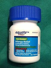 "EQUATE 24hr NON-DROWSY ALLERGY RELIEF ""COMPARE TO CLARITIN""  45 TABLETS APR/2017"