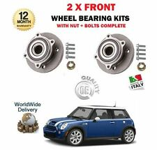 FOR BMW MINI ONE COPPER + S 2001-2006 NEW 2X FRONT WHEEL BEARING HUB KITS + BOLT