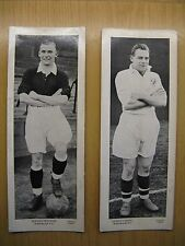 TOPICAL TIMES FOOTBALLERS (PANEL PORTRAITS) MIDDLESBROUGH F.C. 1930'S X 2