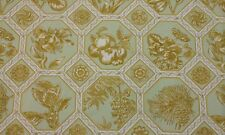 "VERVAIN MARIPOSA KIWI GOLD GREEN FLORAL CUSHION DESIGNER FABRIC BY THE YARD 54""W"