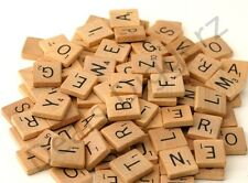 100 Wooden Scrabble Tiles Letters Craft Alphabet Board Game Fun Toy Gift