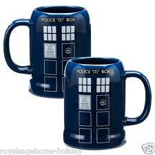 16079 Doctor Who Tardis 20oz Stein Mug Cup Coffee Beer Police Box Time Machine