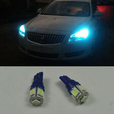 2x bright cool Ice blue T10 168 2825 LED bulb parking Side marker position light