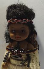 AUCKLAND NEW ZEALAND MAORI INDIAN DOLL PAPOOSE Souvenir VINTAGE ORIGINAL BOX
