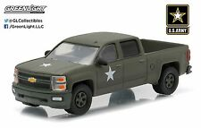 NEW! 1:64 Greenlight *HOBBY EXCLUSIVE* 2015 US ARMY Chevy Silverado Pickup Truck