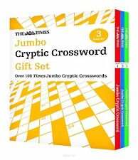 THE TIMES JUMBO CRYPTIC CROSSWORD GIFT SET 3 BOOK SET NEW