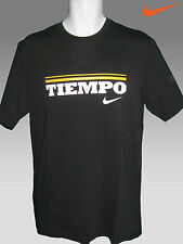 Nike TIEMPO Football Cotton T Shirt Black  M