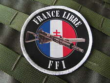 Patch Velcro ..:: FFI FRANCE LIBRE ::.. Sten WW2 jeep WH liner FTP libération