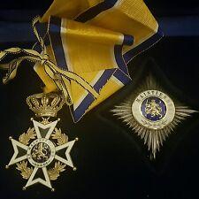 Dutch Netherlands orange Nassau medal + breast badge commander boxed set Holland