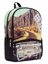 MOJO CLASSIC CRUISIN CAR RIDING DRIVING DASHBOARD PUNK SCHOOL BOOK BAG BACKPACK