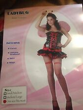 Adult Sexy Ladybird Animal Bug Ladies Dress Fancy Dress Hen Party Costume Outfit