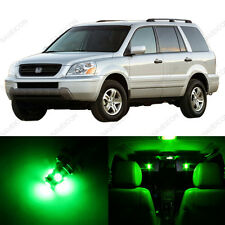 12 x Green LED Lights Interior Package Deal For Honda PILOT 2003 - 2005